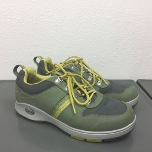 Women's Chaco Green Lace Up Sneakers Shoes Sz 9.5